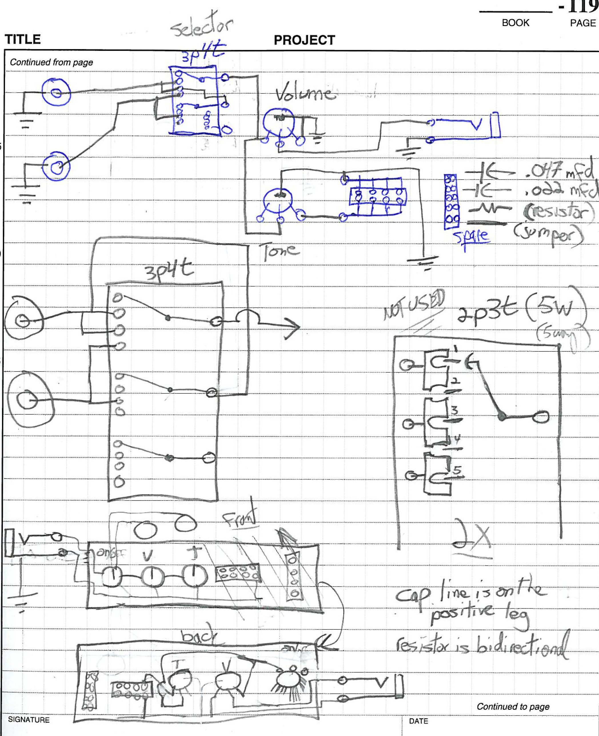 Setting On Off Volume Pot Wiring Wire Data Schema Potentiometer Diagram Weekend Warrior Cbg Build From Beginning To End Cigar Guitar A